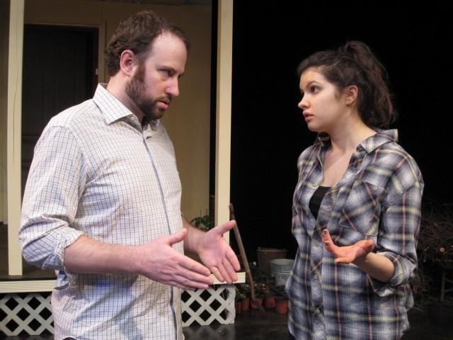 Ryan Lindberg as Cooper and Celeste Busa as his daughter Fleur. Photo Credit: Liz Josheff.