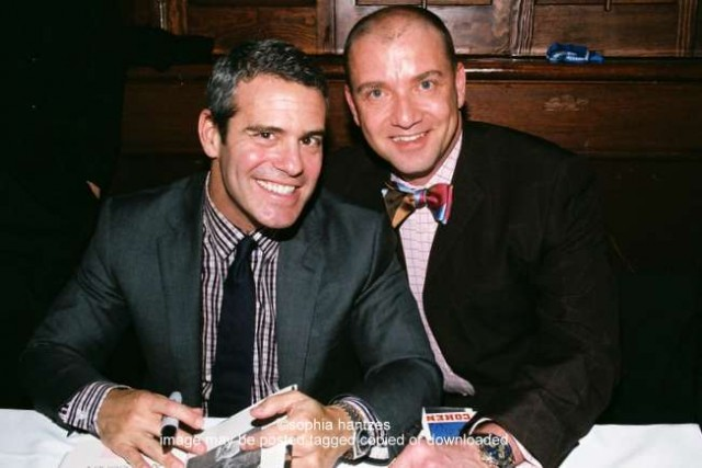 """Andy Cohen, host of  """"Watch What Happen Live"""" , and William Panzarella , Executive Director of the Aegis Foundation at the Metropolitan Ballroom, presented by the  Minneapolis Jewish Federation"""
