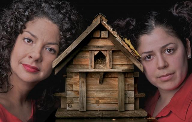 Adlyn Carreras (left) plays Older Esperanza and Alejandra Tobar-Alatriz (right) plays Esperanza. Photo by Marc Norberg.