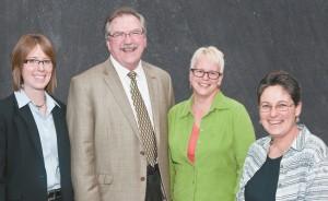 Angela Nichols, Chancellor Black, Paula Pedersen, Helen Mongan-Rallis. Photo courtesy of University of Minnesota, Duluth.