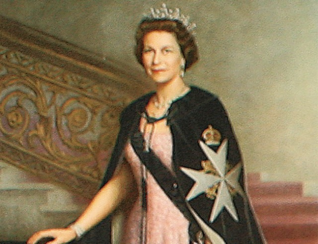 The iconic portrait of Queen Elizabeth II at the 19 Bar, both of which have ruled for 60 years.