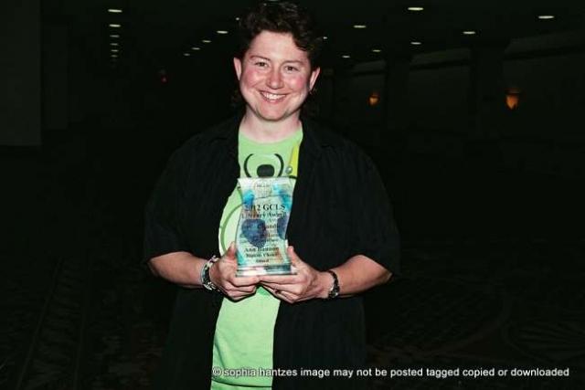 "Local Author Jessie Handler  won the Ann Bannon Popular Choice Award for her novel ""Bingo Barge Murder, A Shay O'Hanlon Caper"" at the recent Golden Crown Literary Awards Celebration"
