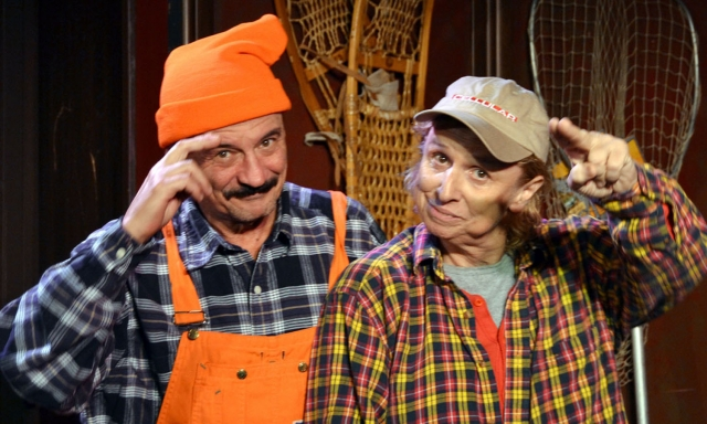 Tony Papenfuss and John Voldstad in Deer Camp. Photo courtesy of Hennepin Theatre Trust.