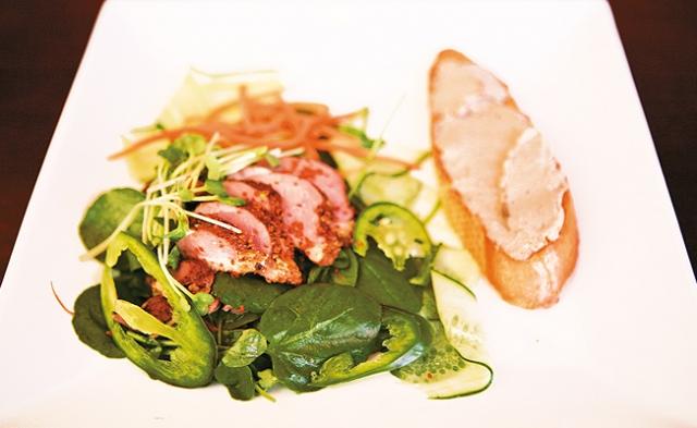 "Wild Acres Duck ""Bánh mì"" Salad. Photos by Mike Hnida"