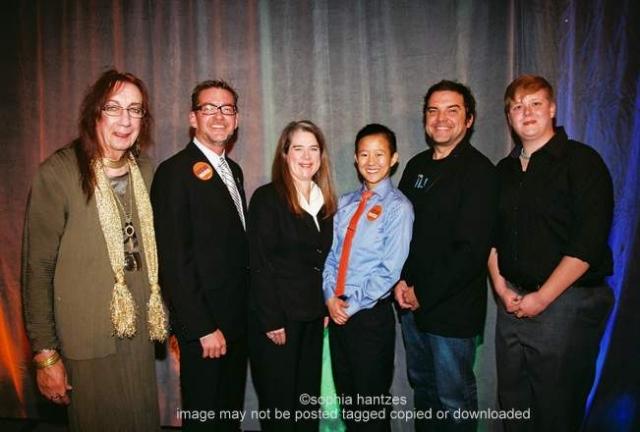 Barbara Satin, Senator Scott Dibble, Julie Watson, Anna Min, Brian Oake and Kristan Clow