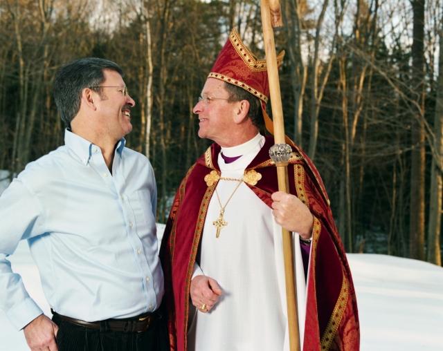 Bishop Gene Robinson and his husband, Mark. Photo by Gillian Laub.