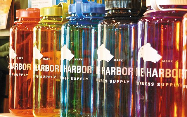 Rainbow bottles at Stone Harbor Wilderness Supply, photo courtesy of Stone Harbor.