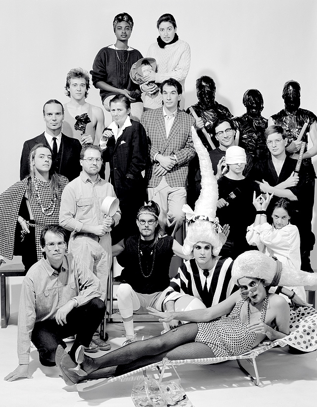 Out There group shot from 1990. Photo by Doro Tuch, courtesy of the Walker Art Center