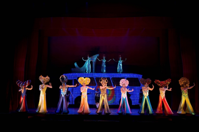 Priscilla Queen of the Desert Company. Photo by Joan Marcus.
