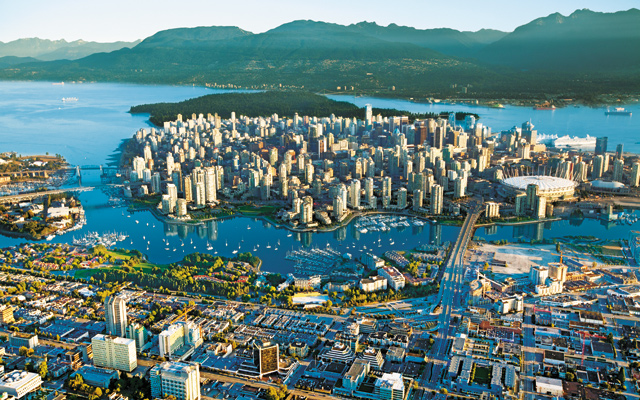 Putting Vancouver in perspective. Photo courtesy of Tourism Vancouver
