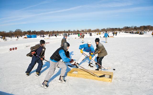 Pond Hockey Championship. Photo by Hubert Bonnet