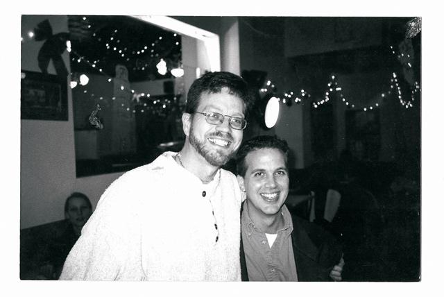 Brett and Randy 15 years ago. Photo courtesy of Brett Stevens
