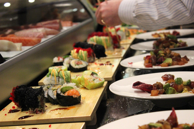 An assortment of fine rolls courtesy of the fine chefs.
