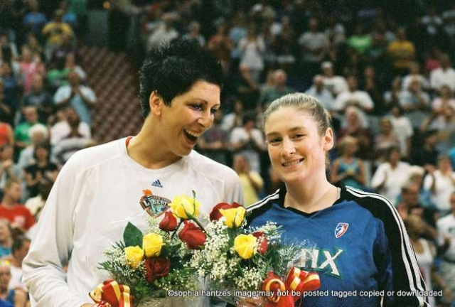 Pictured l-r Janel McCarville Lindsay Whalen  Guard Minnesota Lynx File Photo