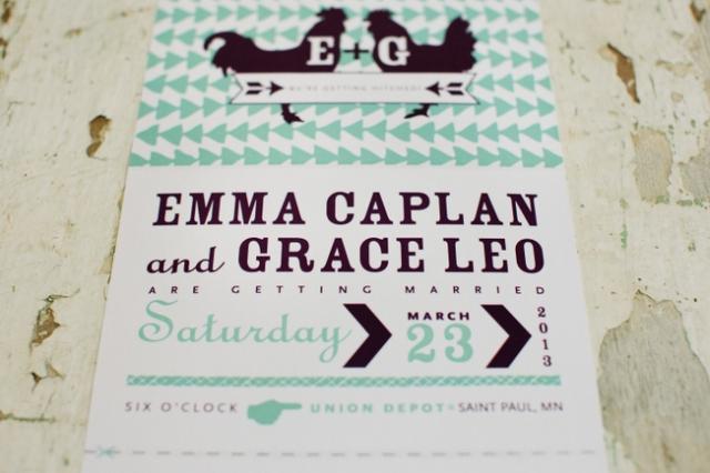 Custom invitations by Saima Says. Photo by Photogen Inc.