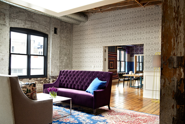 The Bachelor Farmer Library Room, Couches. Photo by John Reed Forsman
