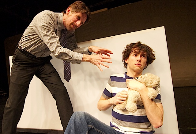 Carver (Bruce Abas) and Morton (Mark Benzel). Photo by Liz Josheff.