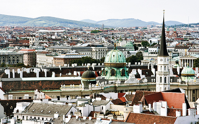 Panoramic view of Vienna. Photo courtesy of iStockphoto