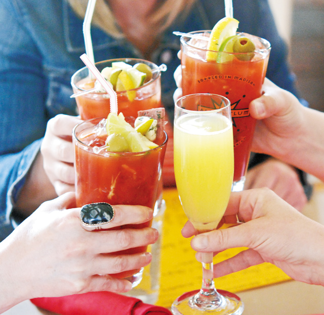 Beautiful bloodies with friends. Photo by Stephanie A. Meyer