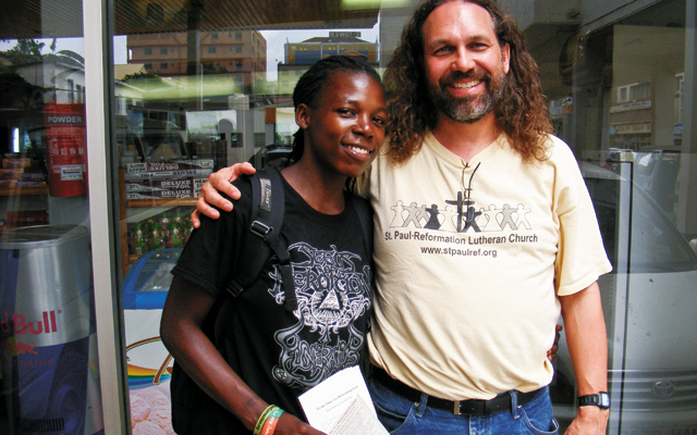 David with Jay, the founder of Fem Alliance. Photo courtesy of David R. Weiss