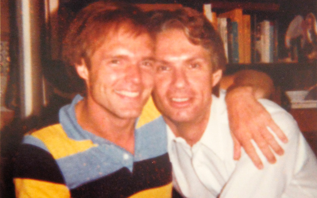 Mark and Donn, not long after that Valentine's party, Spring 1981.