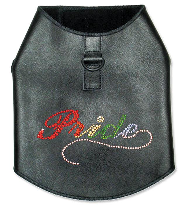 Rhinestone-Leather-Dog-Harness-Vest
