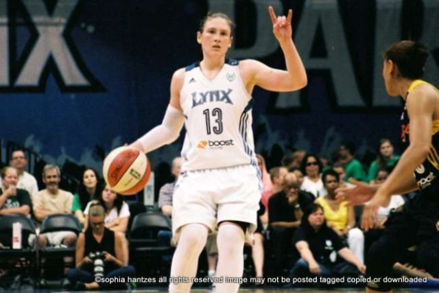 """Minnesota Lynx Guard Lindsay Whalen has been nomined for the 2013 ESPYs in the category of """"Best WNBA Player."""" Fans can vote for Whalen online at http://espn.go.com/espys/2013 until Wednesday, July 17 at 8:00 p.m. CT."""