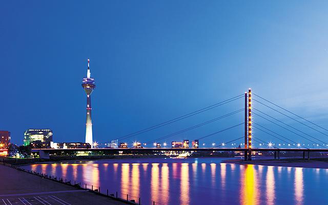 Düsseldorf at night. Photo courtesy of iStockphoto