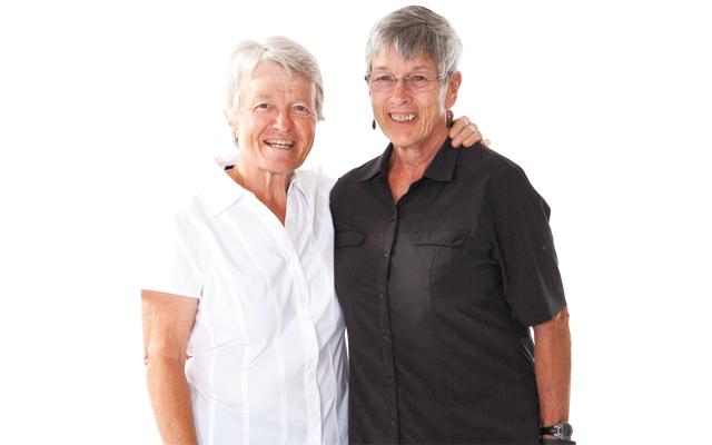 Judy Winiecki and LaVerle McAdams. Photo by Hubert Bonnet