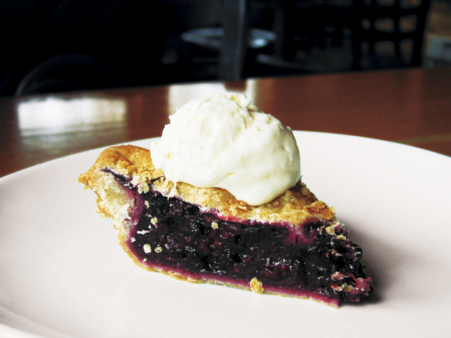 Must-have berry pie at New Scenic Café. Photo by Andy Lien