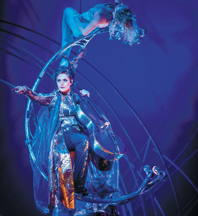 Prospera with the Moon Goddess. Photo courtesy of Cirque du Soleil - Amaluna