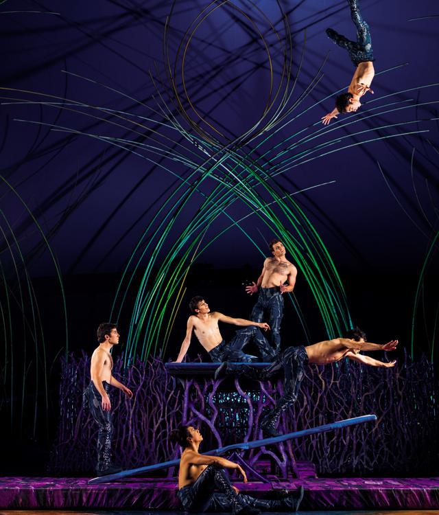 Sailor castaways on the teeterboard. Photo courtesy of Cirque du Soleil - Amaluna