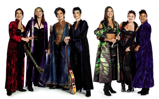 The all-female band rocks a new sound for Cirque du Soleil. Photo courtesy of Cirque du Soleil - Amaluna