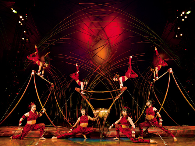 The island, Amaluna, is inhabited by a number of deities as well as a tribe of Amazons. Photo courtesy of Cirque du Soleil - Amaluna