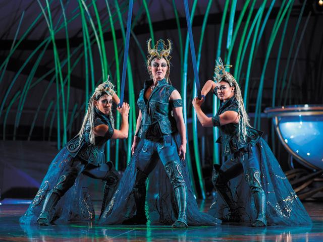 Valkyries. Photo courtesy of Cirque du Soleil - Amaluna