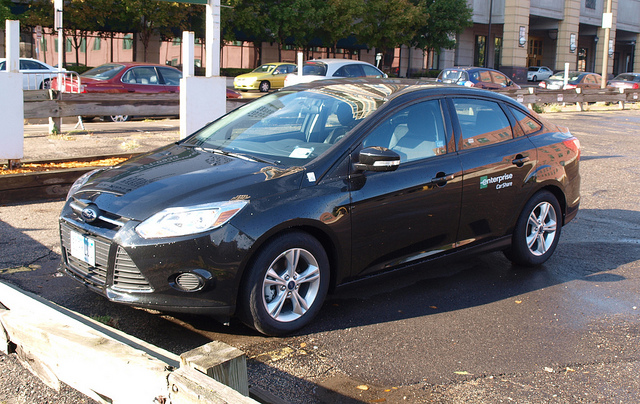 Enterprise Car Share's Ford Focus in downtown Minneapolis