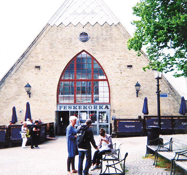 "The ""fish church"", fish market in Gothenberg. Photo by Carla Waldemar"
