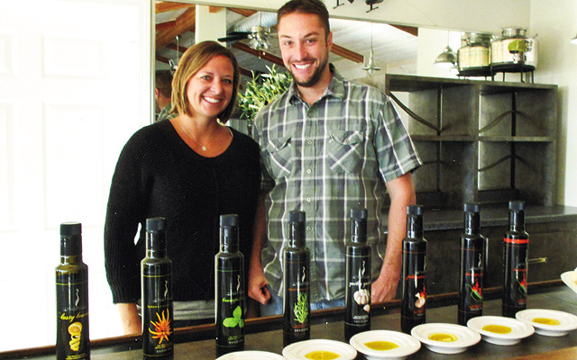 Coldani Olive Ranch: tasting room involves premier flavored oils from their olive trees