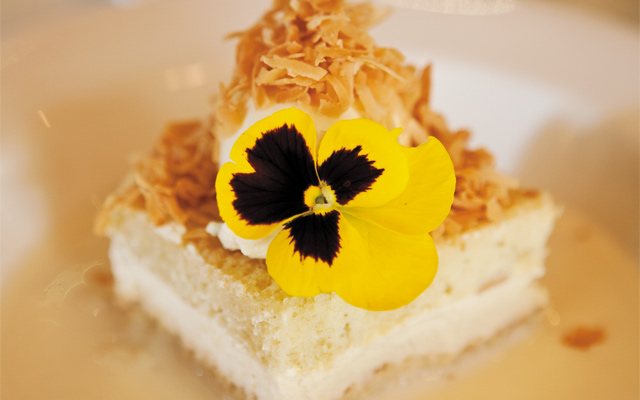 Tres Leches cake at the Harriet Brasserie. Photo by Hubert Bonnet