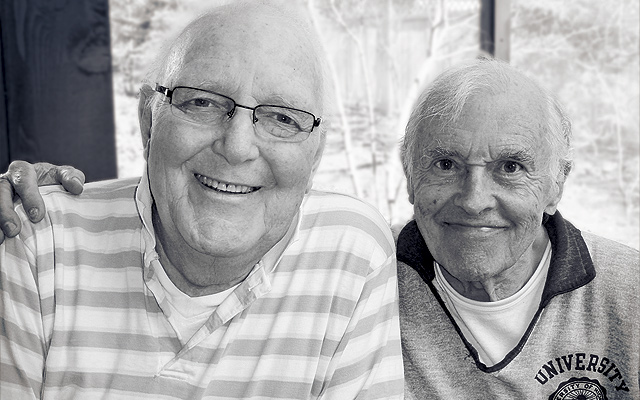 Charles Nolte (L) and Terry Kilburn (R) in their Minneapolis home, Summer, 2009. Photo by E.B. Boatner