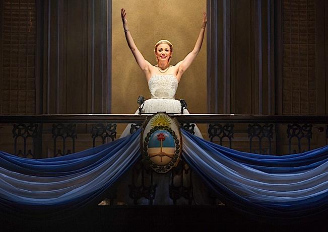 Caroline Bowman as 'Eva Peron'. Photo by Richard Termine.