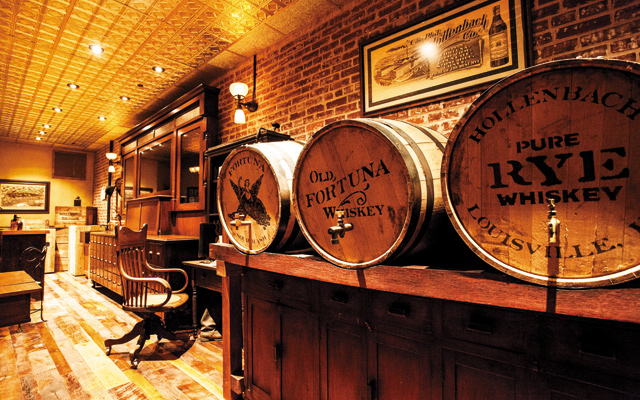 Bourbon tasting room at the brand-new Evan Williams Distillery. Photo courtesy of the Louisville Convention Bureau