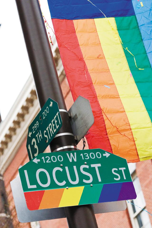 Proud Gayborhood Signage. Photo by J. Smith for Visit Philadelphia™