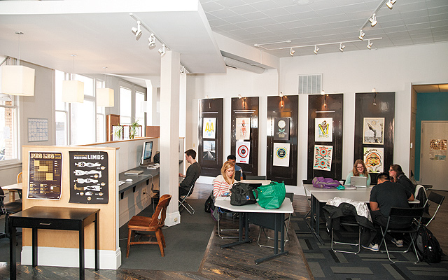 Plenty of light, a wonderful space for collaboration and creativity. Photo by Brett Dorrian