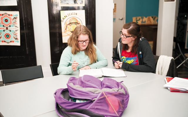 Individual homework help, student and tutor. Photo by Brett Dorrian