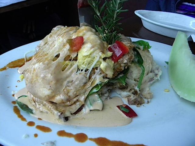 Andy's Sage Fried Chicken Benedict at Hash House A Go Go is probably the best food creation ever.  Photo by Krissy Bradbury.