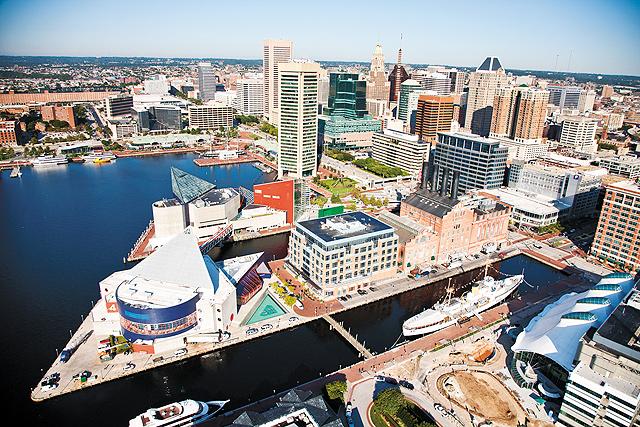 Aerial Skyline. Photo courtesy of Visit Baltimore