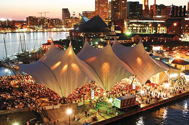 Baltimore Pier Six Concert Pavillon. Photo courtesy of Visit Baltimore