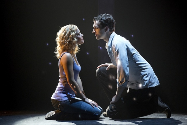 Postotnik (left) and Douglas (right) portray one of Ghost's intimate moments Photo by Joan Marcus