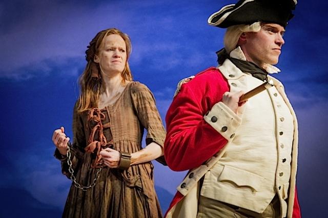 Kathryn O'Reilly (Liz Morden) and Richard Neale (Major Ross). Photo by Robert Workman.